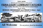 Fidra Court community kitchen is back on tomorrow
