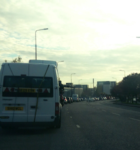 Picture taken yesterday at 3.30pm. Telford Road in gridlock.