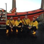 Crew: Iain Leil, Mike Garfitt, Craig Maison, Richie Bisse (Pic RNLI)