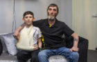 Youngster breaks arm after tripping in bollard hole