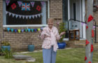 Socially distanced street tea party to mark VE Day in Drylaw