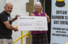 Local DJ hands over £900 donation to Drylaw food bank