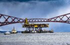 Spectacular sight on River Forth as world's largest construction vessel offloads cargo